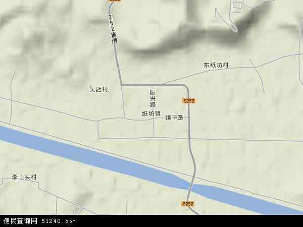 中国山东省济宁市嘉祥县纸坊镇地图(卫星地图)