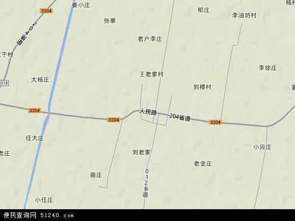 中国安徽省阜阳市界首市砖集镇地图(卫星地图)