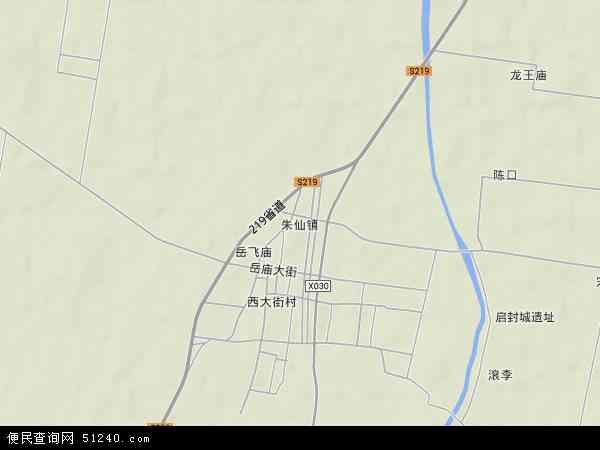 中国河南省开封市开封县朱仙镇地图(卫星地图)