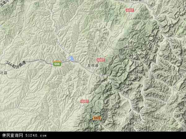 中国山西省晋中市左权县地图(卫星地图)