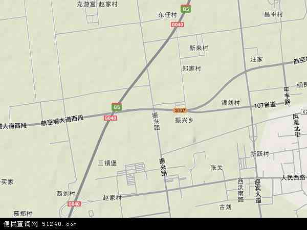 中国陕西省西安市阎良区振兴地图(卫星地图)