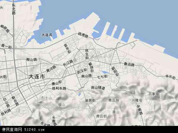 中国辽宁省大连市中山区地图(卫星地图)
