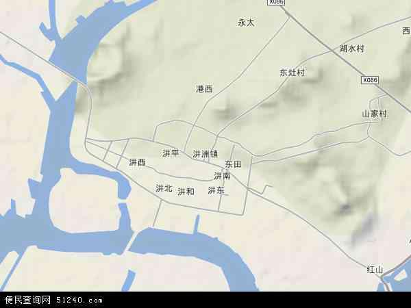 中国广东省潮州市饶平县?洲镇地图(卫星地图)