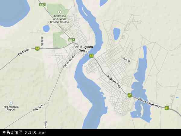 奥古斯塔港地图 - 奥古斯塔港卫星地图