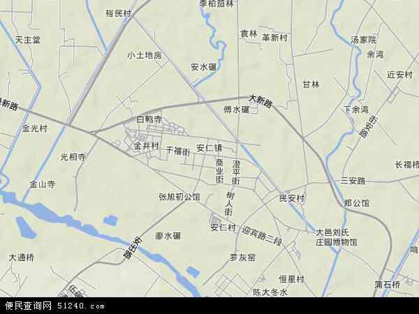 安仁镇地形地图