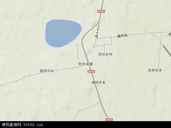 中国辽宁省阜新市彰武县阿尔乡镇地图(卫星地图)