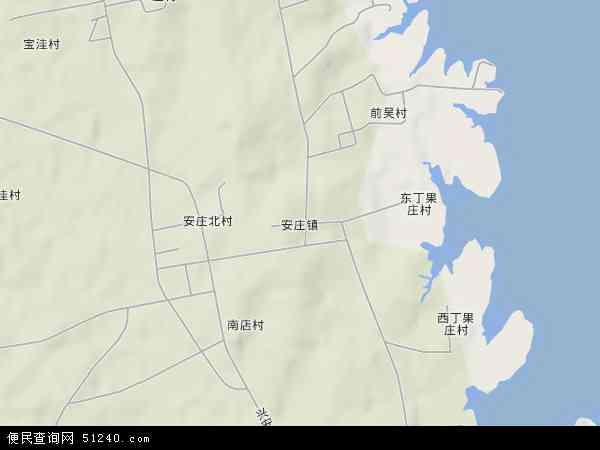 中国山东省日照市莒县安庄镇地图(卫星地图)