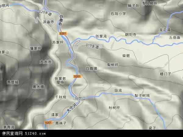 白鹿镇地图 - 白鹿镇卫星地图 - 白鹿镇高清航拍地图