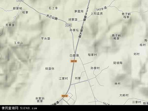 中国江西省九江市星子县白鹿镇地图(卫星地图)