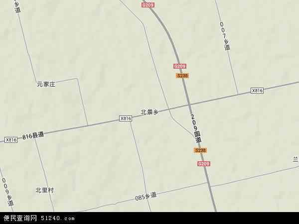 中国山西省运城市临猗县北景乡地图(卫星地图)