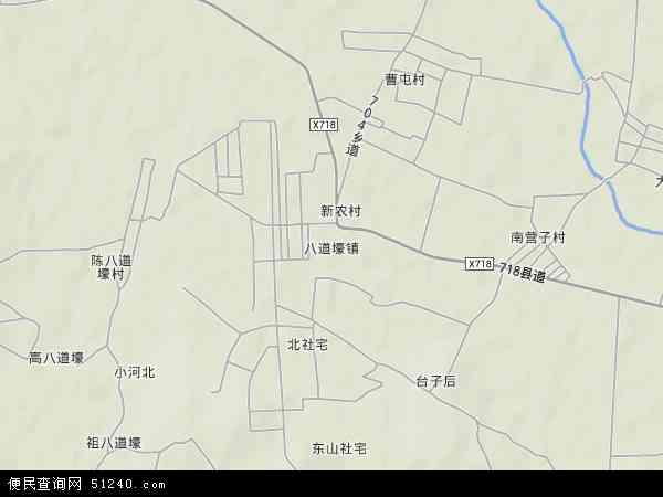 中国辽宁省锦州市黑山县八道壕镇地图(卫星地图)