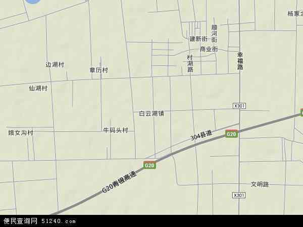 中国山东省济南市章丘市白云湖镇地图(卫星地图)