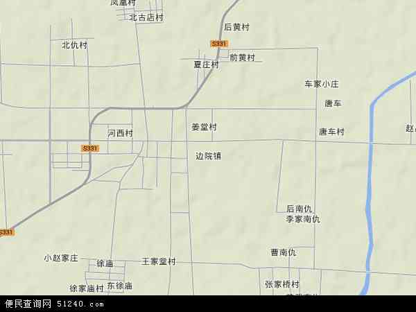 中国山东省泰安市肥城市边院镇地图(卫星地图)