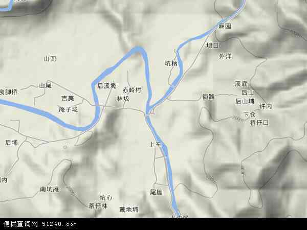 中国福建省漳州市长泰县枋洋镇地图(卫星地图)
