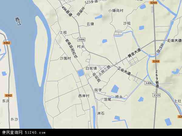中国广东省佛山市三水区白坭镇地图(卫星地图)