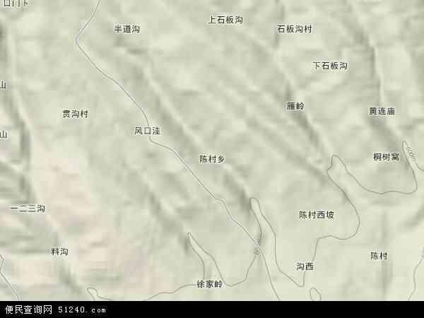 中国河南省三门峡市渑池县陈村乡地图(卫星地图)