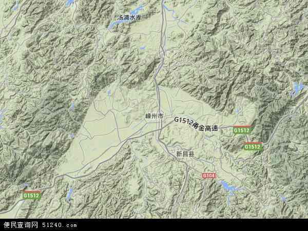 嵊州市地图 - 嵊州市卫星地图