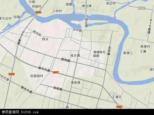 中国安徽省亳州市涡阳县城关地图(卫星地图)