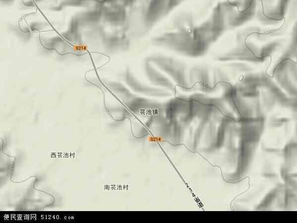 中国山西省阳泉市盂县苌池镇地图(卫星地图)