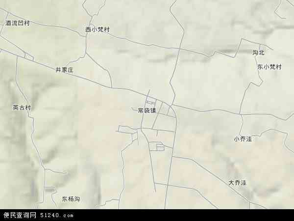 中国河南省洛阳市孟津县常袋镇地图(卫星地图)
