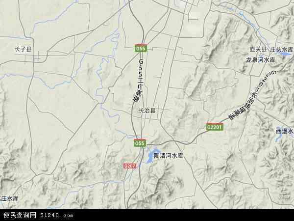 长治县高清卫星地图 长治县2016年卫星地图 中国山西省长治市长治