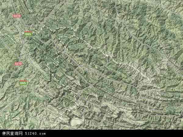 中国重庆市城口县地图(卫星地图)