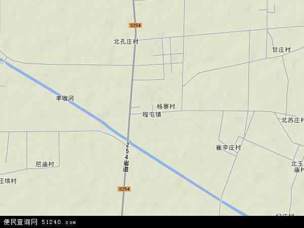 中国山东省菏泽市郓城县程屯镇地图(卫星地图)