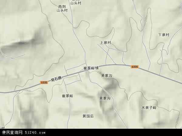 中国山东省临沂市沂水县崔家峪镇地图(卫星地图)