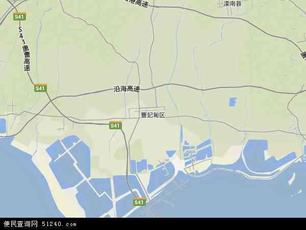 中国河北省唐山市曹妃甸区地图(卫星地图)