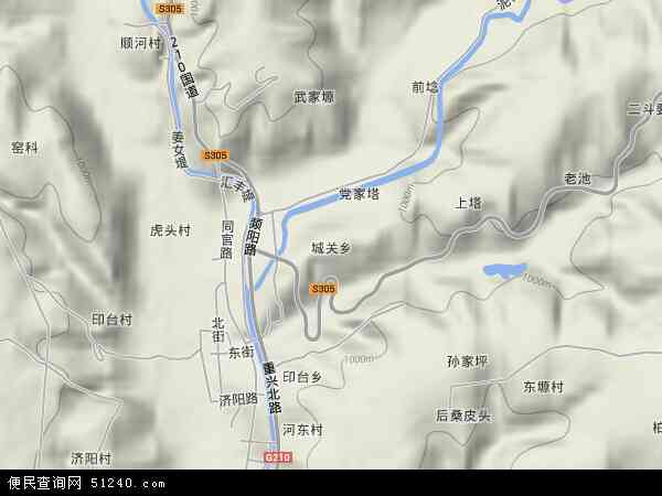 中国陕西省铜川市印台区城关地图(卫星地图)