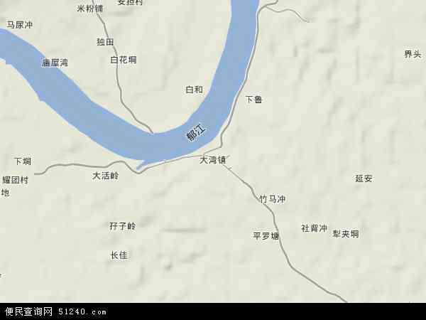 大湾镇高清卫星地图 大湾镇2017年卫星地图 中国广西壮族自治区贵