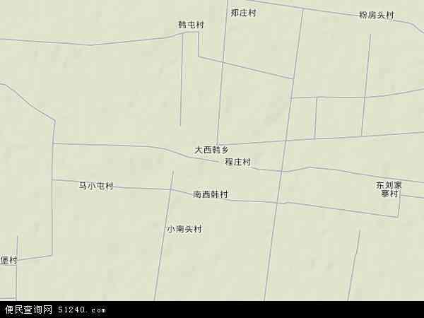 中国河北省邯郸市肥乡县大西韩乡地图(卫星地图)