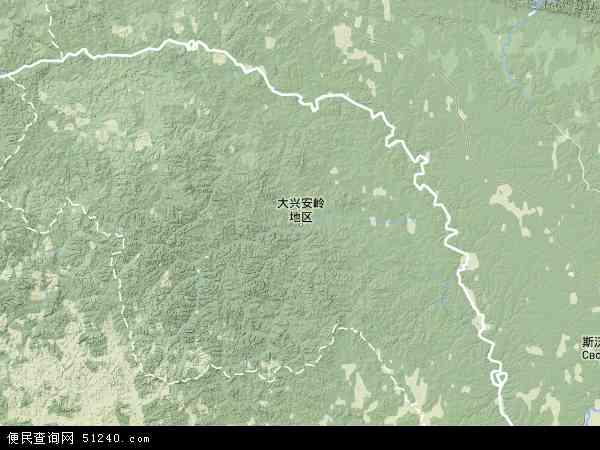 大兴安岭地区地图 - 大兴安岭地区卫星地图