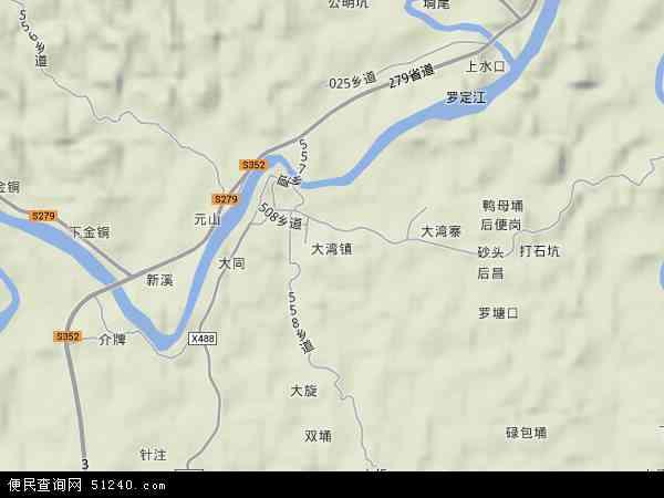 中国广东省云浮市郁南县大湾镇地图(卫星地图)