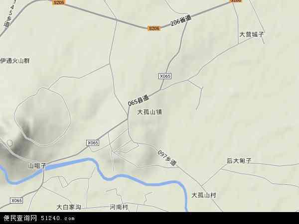 大孤山镇地图 - 大孤山镇卫星地图