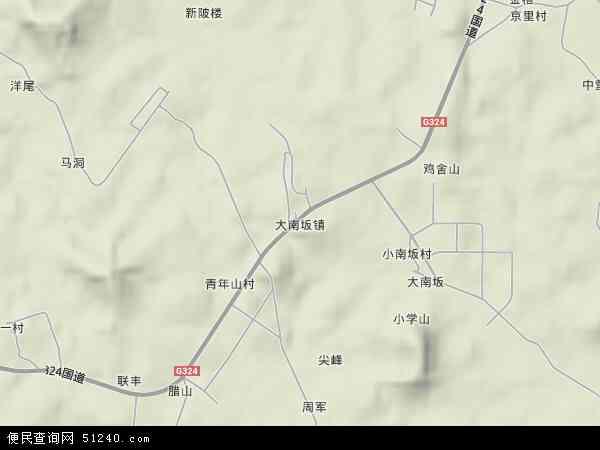 福建省漳州市漳浦县南坂镇地图(卫星地图)