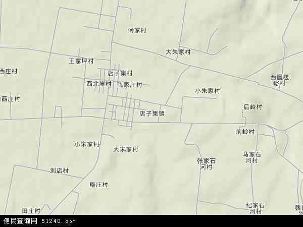 中国山东省日照市莒县店子集镇地图(卫星地图)