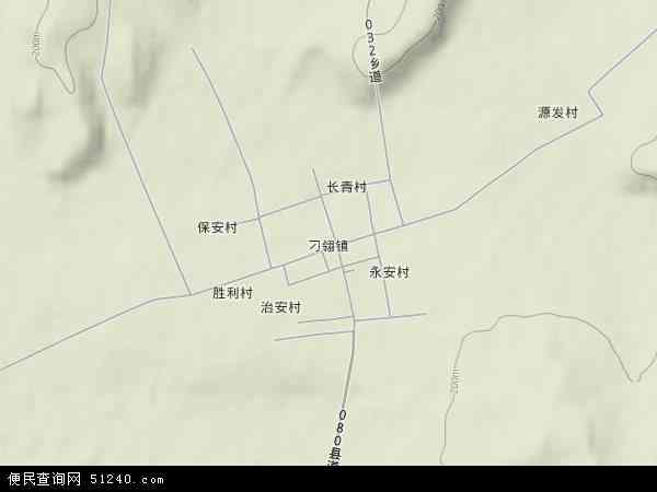 中国黑龙江省牡丹江市林口县刁翎镇地图(卫星地图)