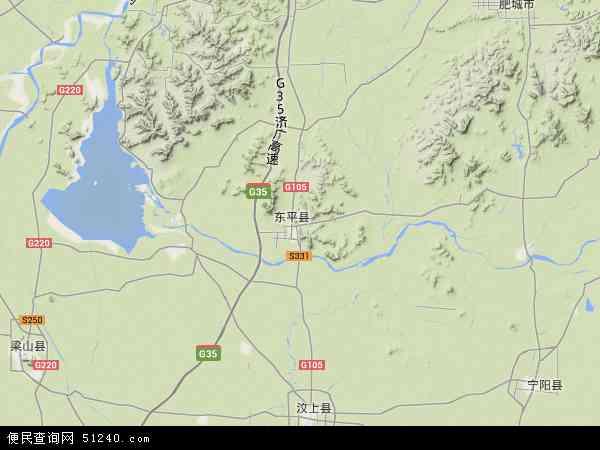 中国山东省泰安市东平县地图(卫星地图)