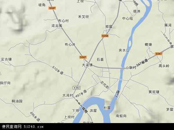 大湾镇地图 - 大湾镇卫星地图 - 大湾镇高清航拍地图