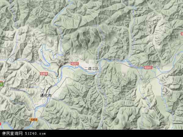 二道江区地图 - 二道江区卫星地图图片