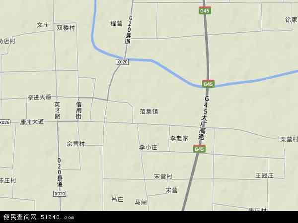 中国河南省周口市项城市范集镇地图(卫星地图)