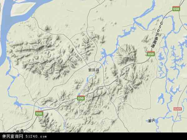 繁昌县地图 - 繁昌县卫星地图图片
