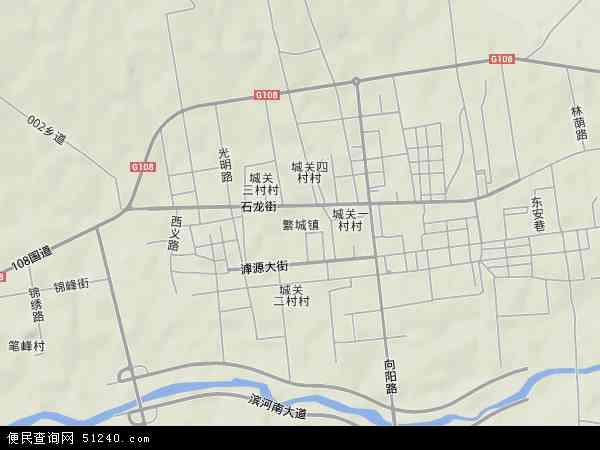 中国山西省忻州市繁峙县繁城镇地图(卫星地图)图片