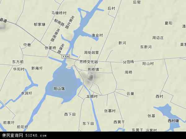 芳桥镇高清卫星航拍地图