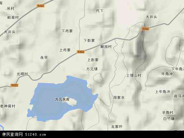 中国湖南省郴州市桂阳县方元镇地图(卫星地图)
