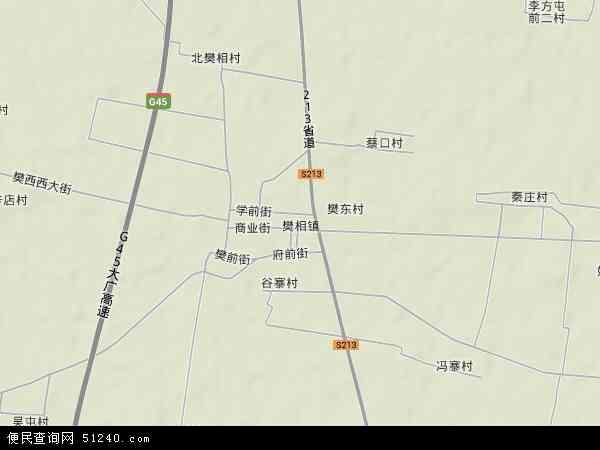 中国河南省新乡市长垣县樊相镇地图(卫星地图)