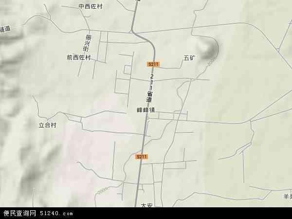 中国河北省邯郸市峰峰矿区峰峰镇地图(卫星地图)