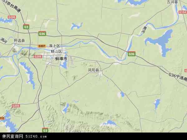 凤阳县地图 - 凤阳县卫星地图