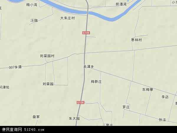 中国河南省驻马店市新蔡县关津乡地图(卫星地图)